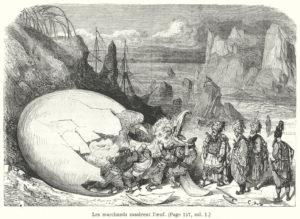 """Sindbad der Seefahrer und der Vogel Roch, Illustration von Gustave Doré (1832 - 1883), aus """"One Thousand and One Nights"""", Antoine Galland, Paris 1865"""